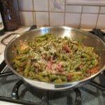 String beans with Marinara