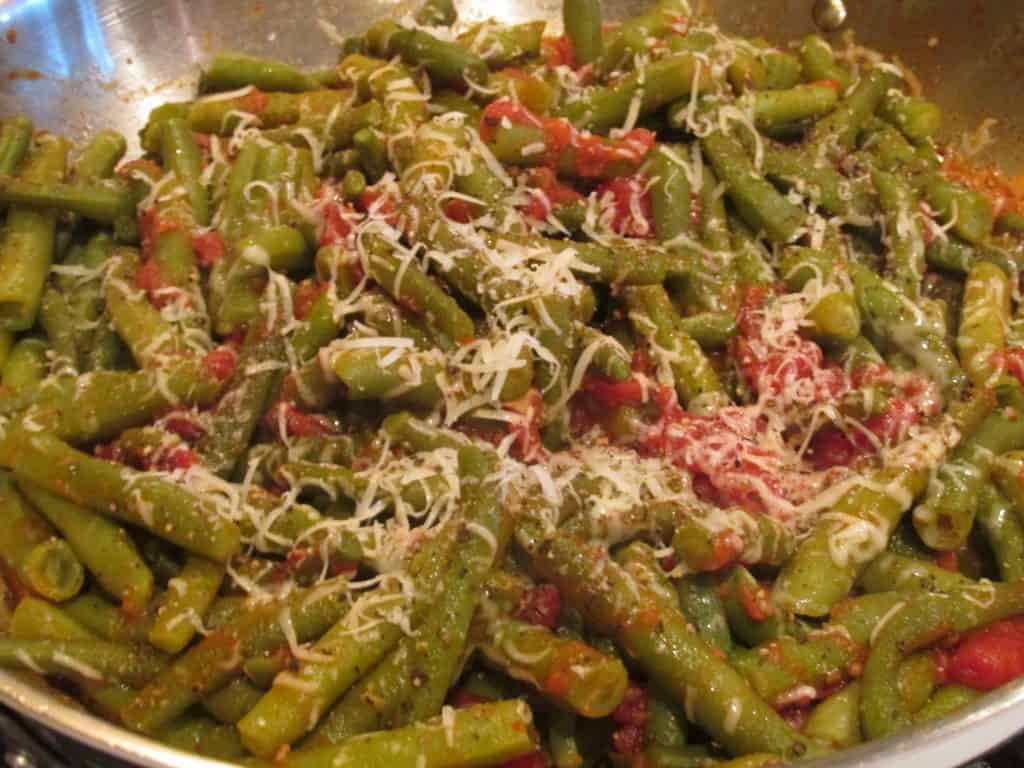 String beans with tomato
